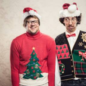 5 festive jumpers that work with his adorable chubby belly